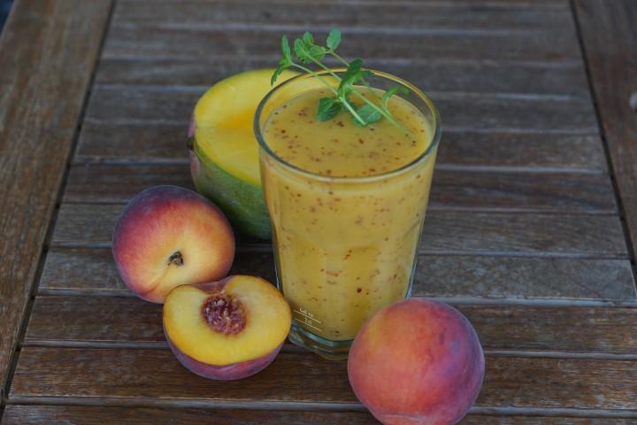 קייצי ומרענן: שייק אפרסק- משקה קר , מרענן ובריא