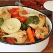נשנוש בריא: ברוקולי וכרובית בתנור