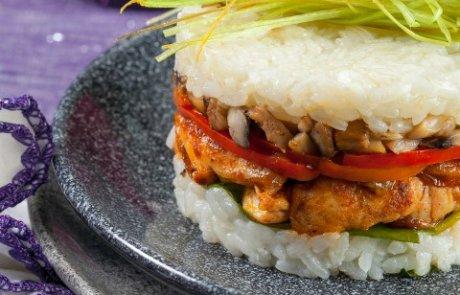 שכבות פרגית ירקות ואורז, ההכנה פשוטה וההגשה מרשימה/ שף ציפי כהן
