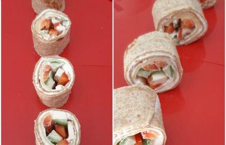 מרשים, טעים ובריא: סושי טורטייה במילוי גבינות וירקות/ שרה חכם