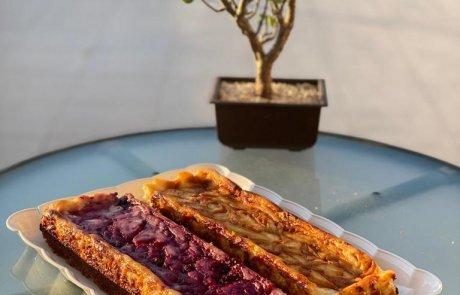 עוגת גבינה עם ריבת פירות יער או ריבת חלב / אילנה קאיקוב