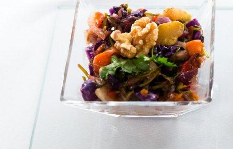 כשר לפסח:) ירקות מוקפצים בדבש וסילאן