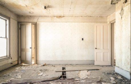 רצפה ותקרה ובניין שקרס
