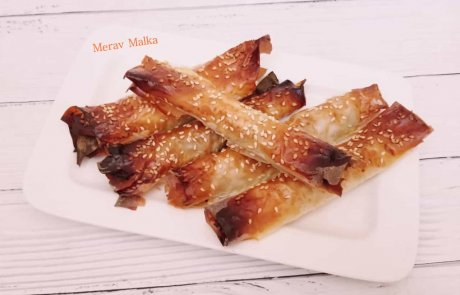 לסעודה מפסקת: עלי פילו ממולאים בבשר ופטריות/ מירב מלכה