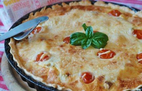 קיש עגבניות שרי עם גבינה בולגרית
