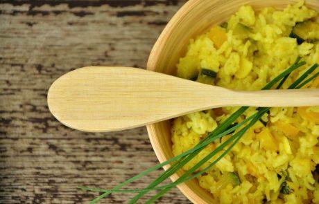 תמיד נחמד לגוון בתוספות- אורז צהוב ירוק…